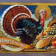 1909 Thanksgiving Greetings  Thanksgiving series No. 3