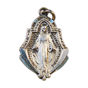HMH Miraculous Mary Sterling Silver Medal