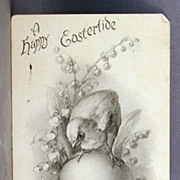 1906 Undivided back Easter postcard black and white