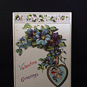 SALE 1911 Valentine Greetings Post Card