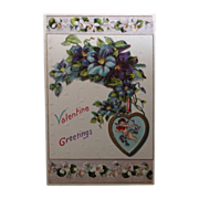 SOLD 1911 Valentine Greetings Post Card