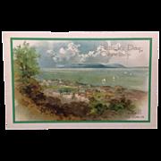 SOLD Unused St. Patrick's Day postcard  Dalkey, Co. Dublin