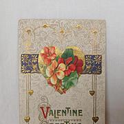SALE 1912 Valentine Postcard  Valentine Greeting. Art Nouveau style
