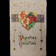 1912 Valentine Postcard  Valentine Greeting. Art Nouveau style