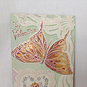 SALE 1910 Valentine Postcard. Butterfly Series. To My Valentine