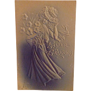 1907 Easter Greetings Embossed and Airbrushed with undivided back