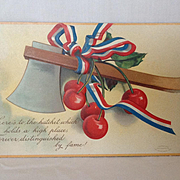 1908 Unused George Washington's Birthday Postcard with Hatchet and Cherries