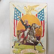 1909 George Washington Commemorative Postcard