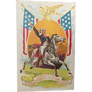 1909 George Washington Commemorative Postcard