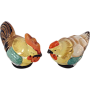 Vintage hen and rooster salt and pepper shakers