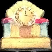 SOLD Miniature bisque mantel clock Japan
