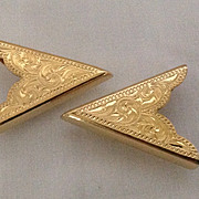Gold Plated Western Collar Points