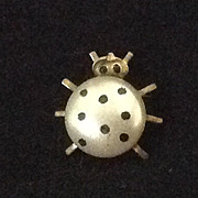 Vintage Celluloid Lady Bug pin