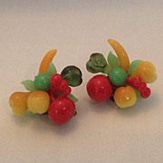 Bright and colorful fruit salad earrings Made in Austria