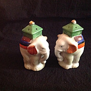VIntage Elephant Salt and Pepper Shakers