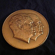 1973 Nixon Agnew Second Term Inaugural Large Solid Bronze Coin