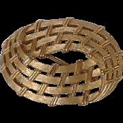 Trifari Basket Weave Pin