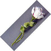 Vintage enamel rose pin