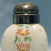 REDUCED Gillinder Glass Six Rib Melon Opalware Shaker