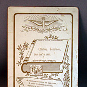 Memorial or Remembrance Cabinet Card