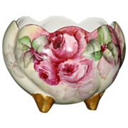 Hand Painted Rose Bowl