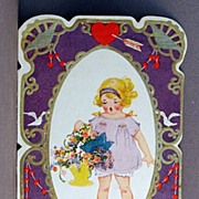 SALE 1920's Valentine Card