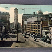 1913 Post Card Longacre Square, South, New York City