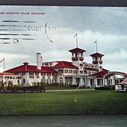 1909 Chromolithograph Postcard South Shore Country Club Chicago