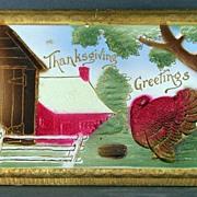 Unused embossed Thanksgiving postcard