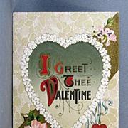 SALE Winsch 1911 I Greet Thee Valentine