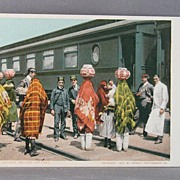 1902 Chromolithograph Postcard of Pueblo Indians