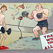 "1909  I. Gulick Comic postcard ""That's What They All Say"""