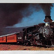 Unused Post Card Denver and Rio Grande Narrow Gauge Passenger Train