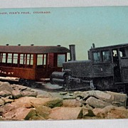 Unused Post Card Cog Wheel Train Manitou and Pike's Peak Railway