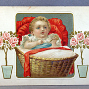 New Baby postcard printed in Germany