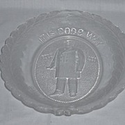 "REDUCED President McKinley Memorial Platter ""It is God's Way His Will Be Done"""