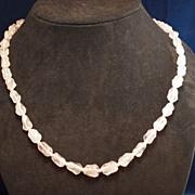 Beautiful Vintage Rose Quartz Necklace