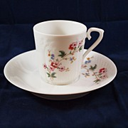 Lovely Floral A. Giraud Sauviat Limoges Cup and Saucer