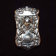 Gilbert Sterling Silver Repousse Match Safe