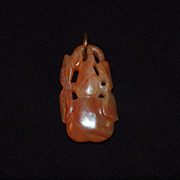 Carved Chinese Red Jade Pendant