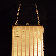 SALE Art Deco 14K Rose and Yellow Gold Necessaire