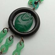 SALE Vintage Art Deco Monkey Necklace