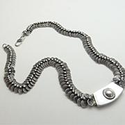 SALE Impressive Sterling Silver Coil Necklace
