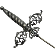 Antique Art Nouveau Fancy Sword Stick Pin