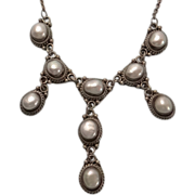REDUCED Sterling Silver Bali Suarti Fresh Water Pearl Drop Necklace