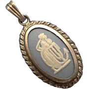 Petit Wedgwood Blue Cameo Sterling Silver Pendant