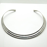 REDUCED Sterling Silver Modernist Collar Necklace