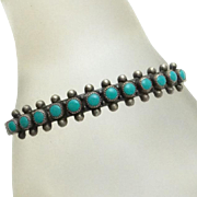 REDUCED Vintage Bell Trading Post Sterling Silver  Turquoise Cuff Bracelet