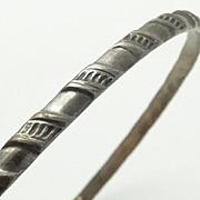 Thin Vintage Sterling Silver Bangle Bracelet