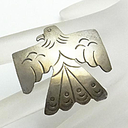 Sterling Silver American Indian Eagle Pin
